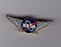 Rare NASA Logo Flight Wings Space Mission Enamel Pin Badge