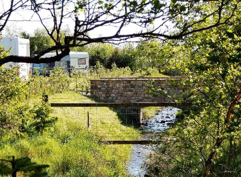 Bridge and Stream at Thornbrook Barn Caravan Site