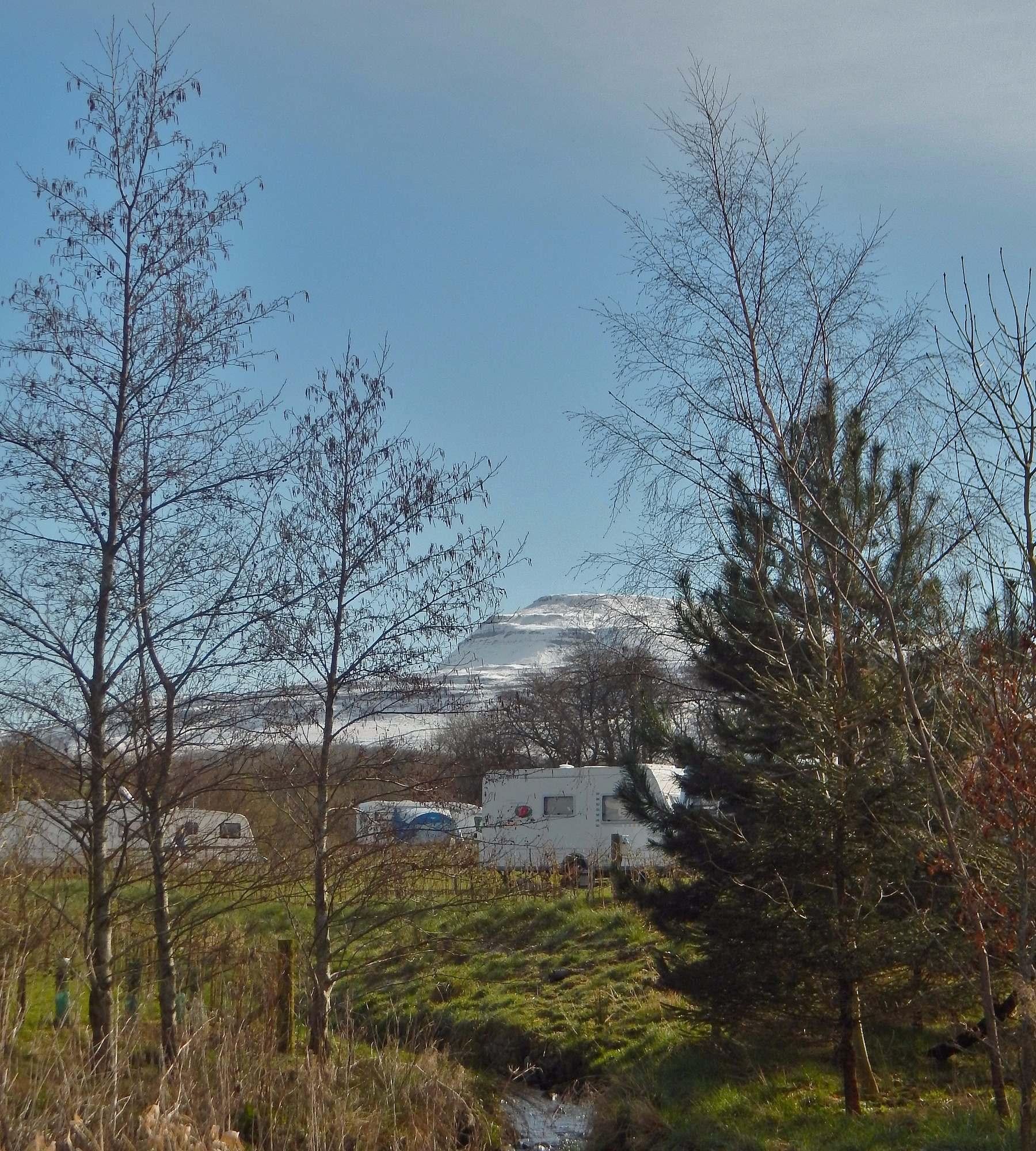 Snowy morning at Thornbrook Barn Caravan Site