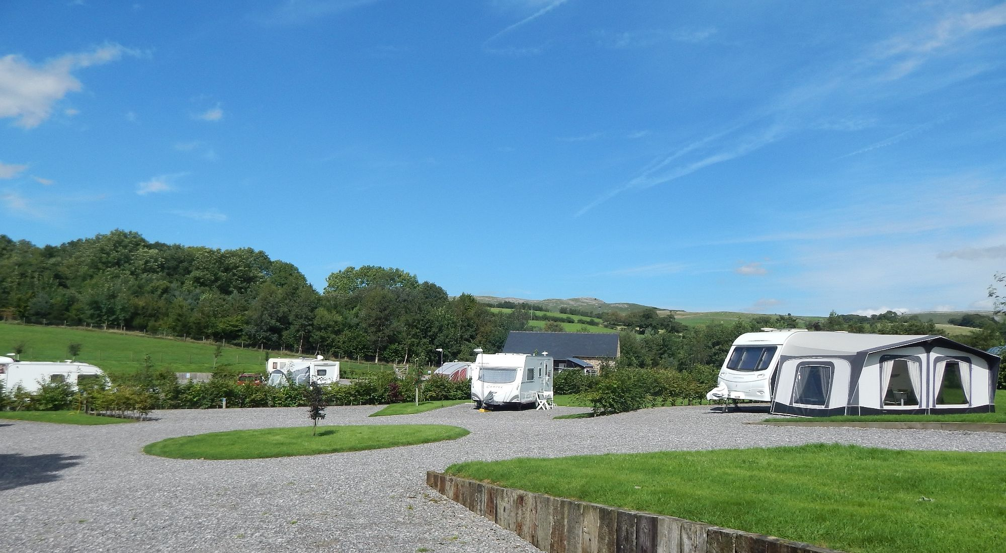 Standard Pitches Thornbrook Barn Caravan Site
