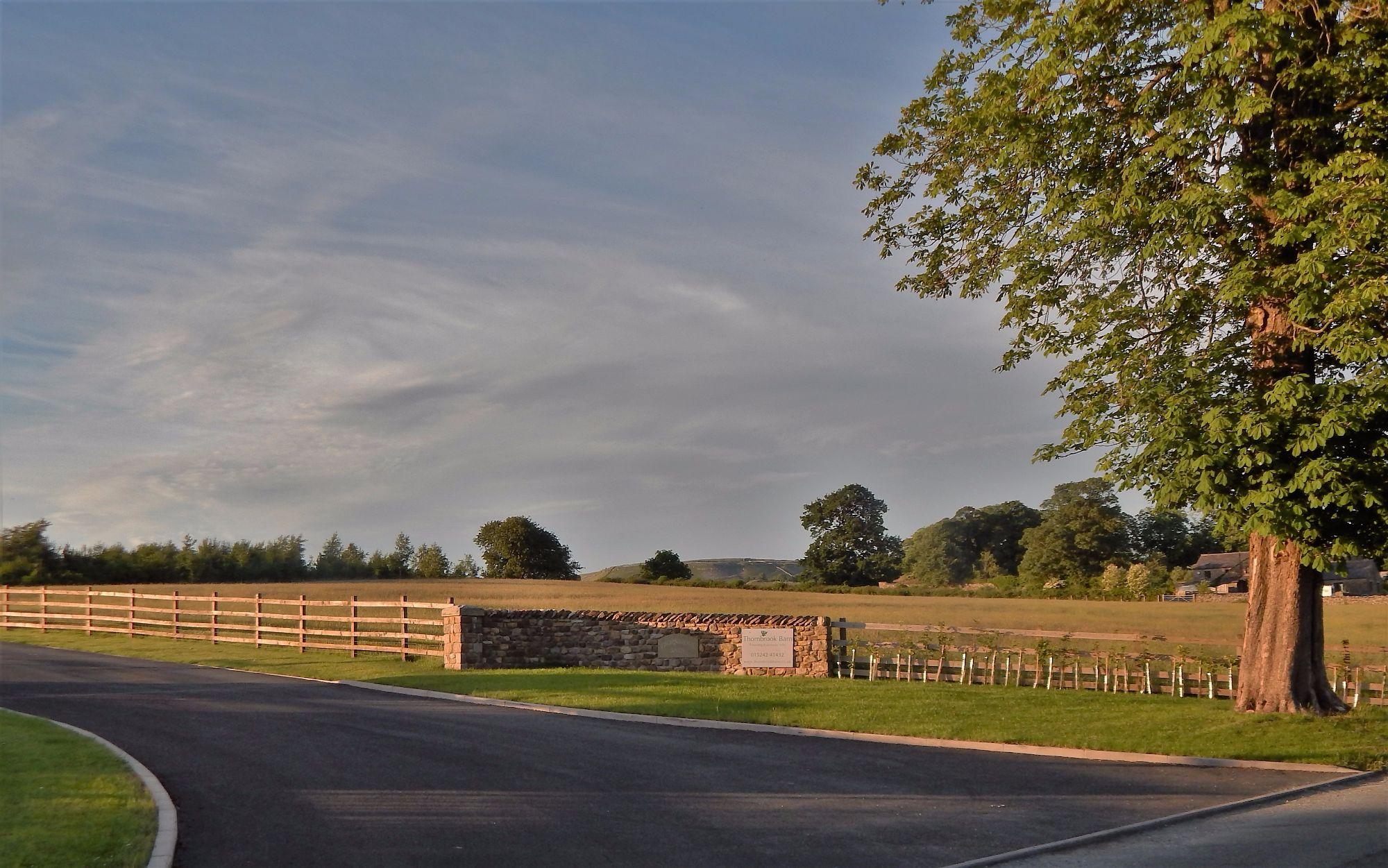 Site entrance at Thornbrook Barn Touring Caravan Site