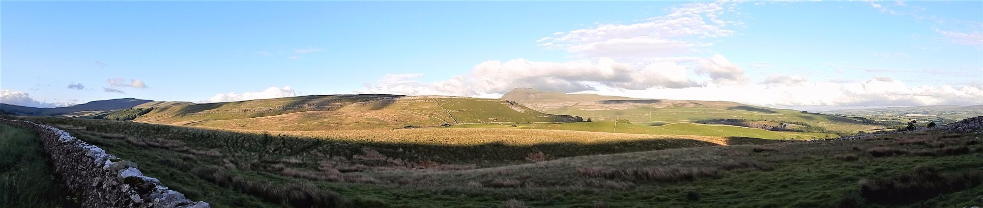 View towards Twistleton Scar and Ingleborough viewed from Kingsdale