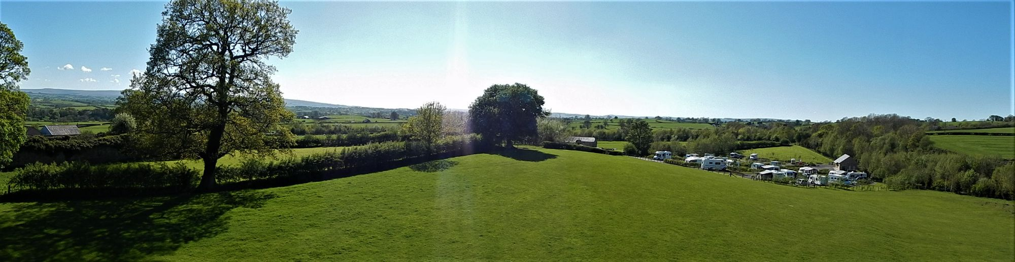 View over Thornbrook Barn to the West