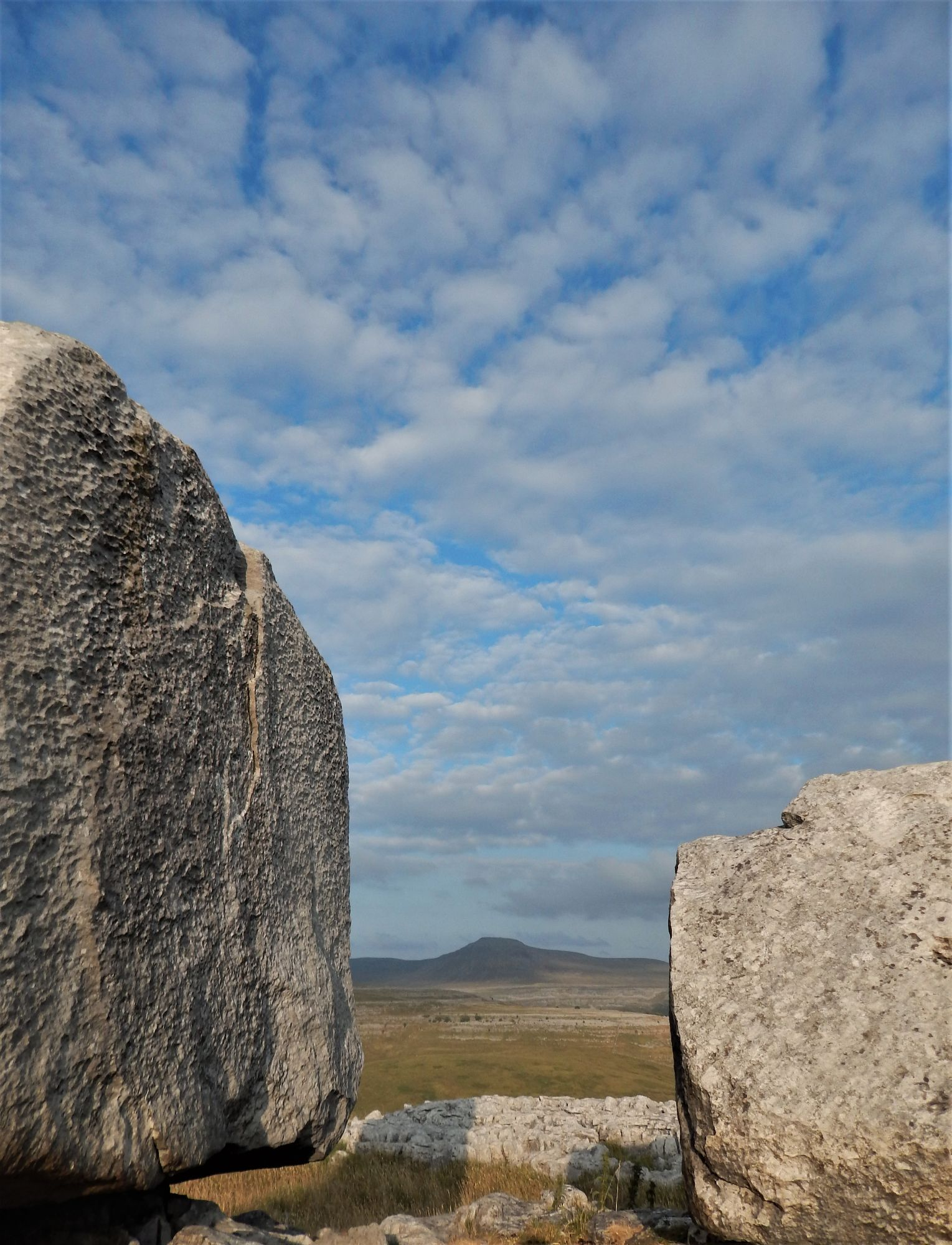 Cheese Press Stones with Ingleborough