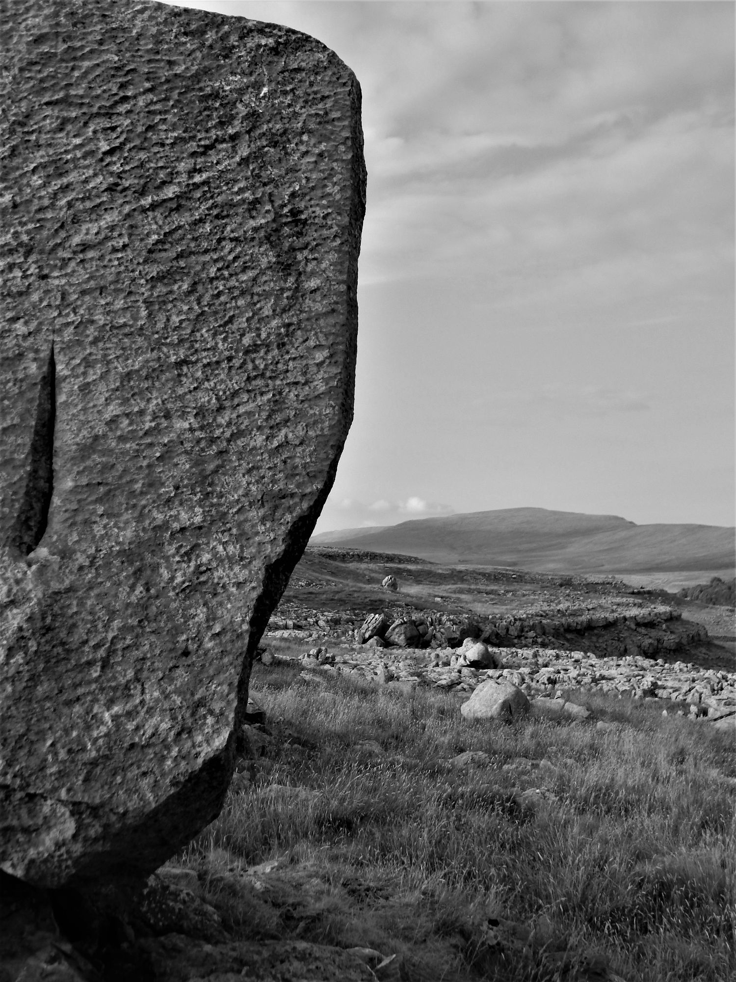 Cheese Press Stones towards Whernside
