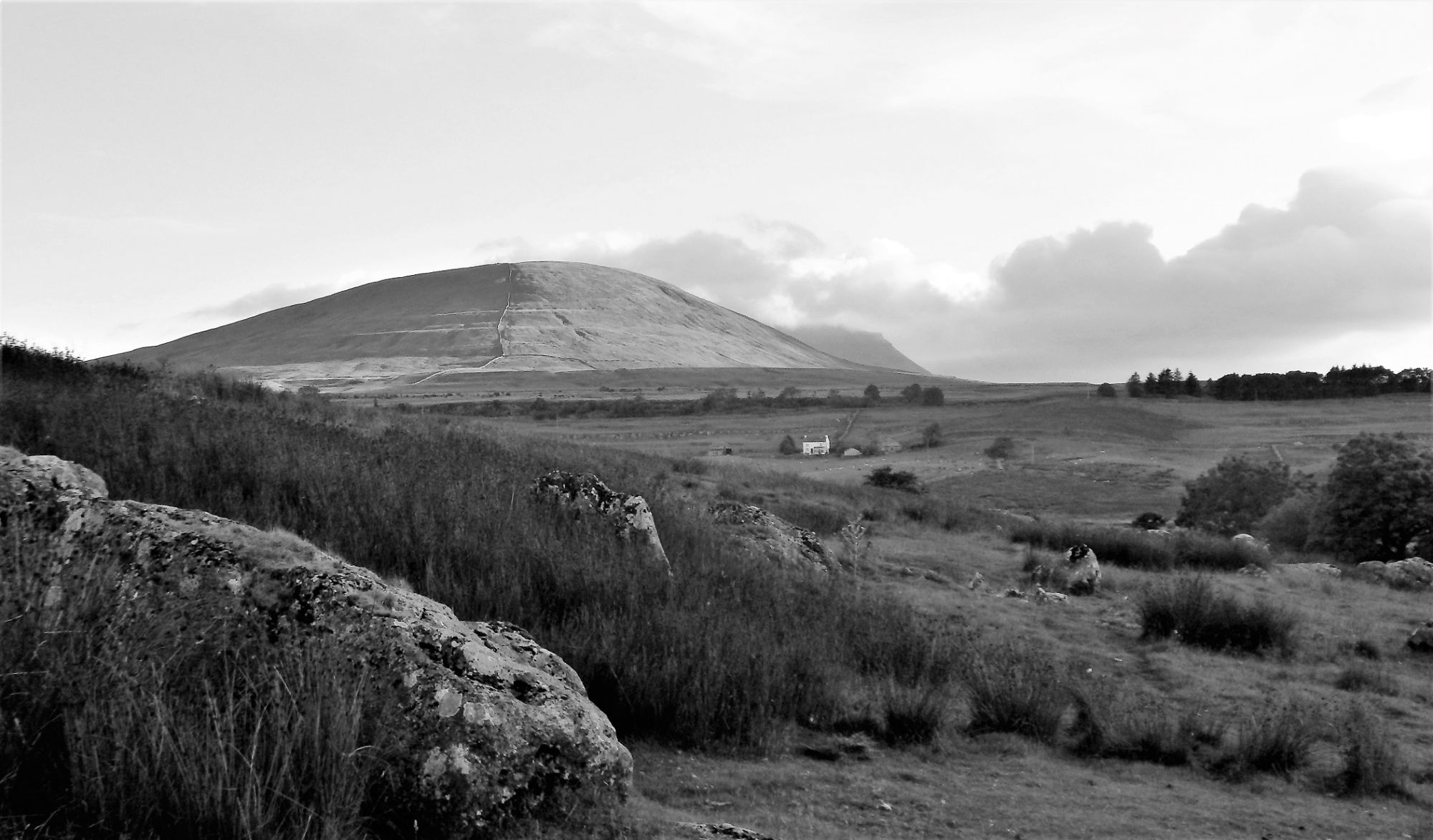 View to Park Fell and Ingleborough from Thorns Gill