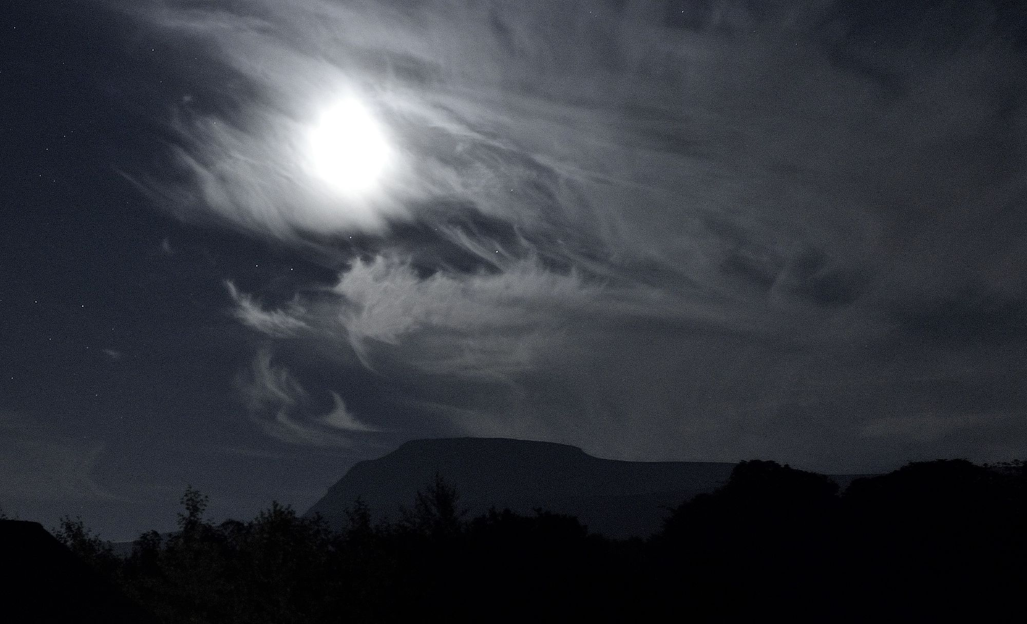 Night Skies from Thornbrook Barn with Ingleborough