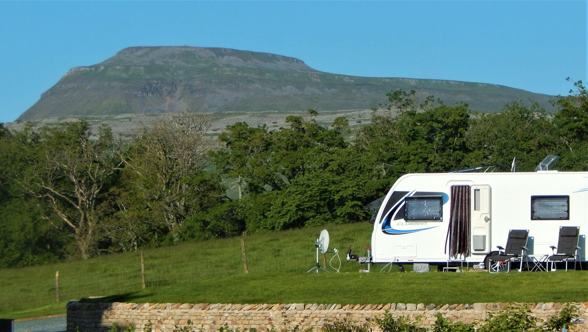 Ingleborough and one of the Serviced Pitches