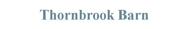 Thornbrook Barn Caravan Site, site logo.