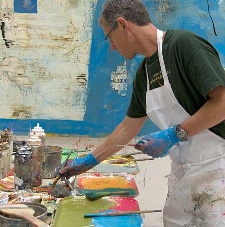 Nicholas Wilton in his Sausilito Art Studio