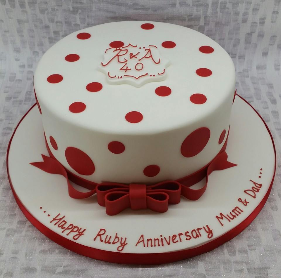ruby wedding cake pictures anniversary cakes 19449