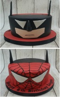 Batman Spiderman cake