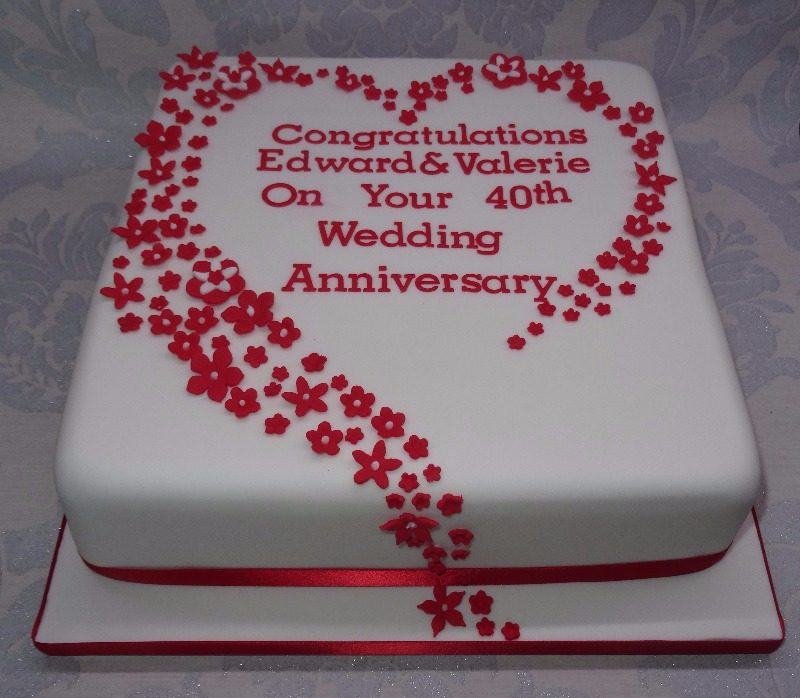 Great ... 40th Wedding Anniversary Cake ...