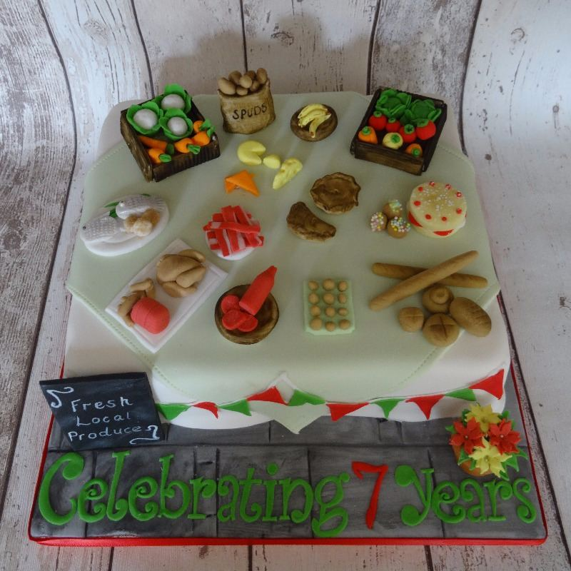Market stall cake (Nailsea Town Council)