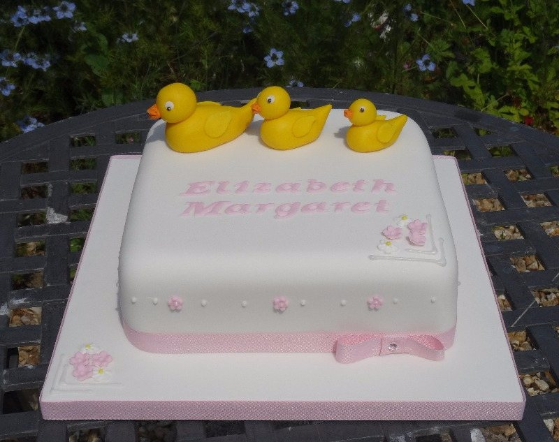 Ducks Christening cake