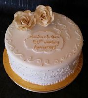 Golden rose cake