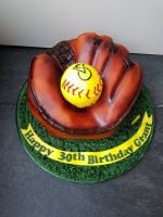 Softball Glove Cake