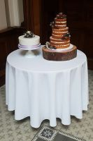 Naked wedding cake with fruit cake