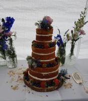 Small naked wedding cake