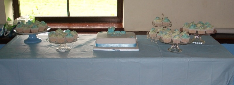 Christening cake table