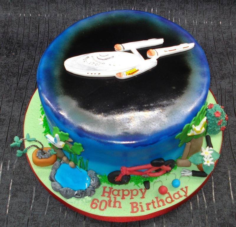 Star Trek hobbies cake