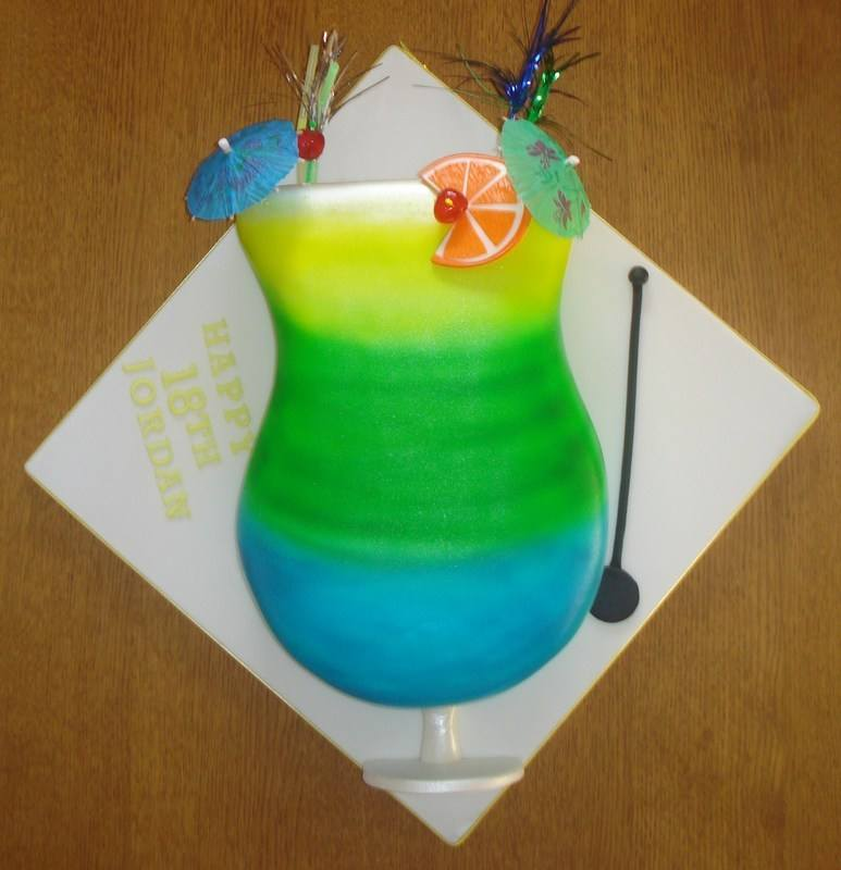 Cocktail glass cake