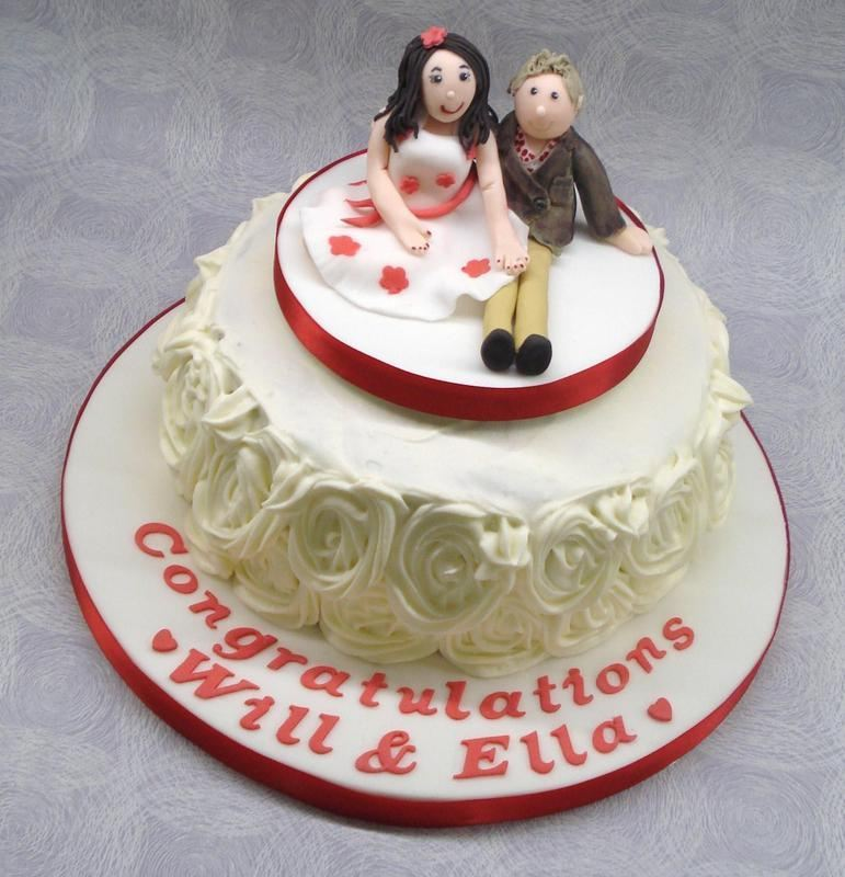 Red Velvet engagement cake