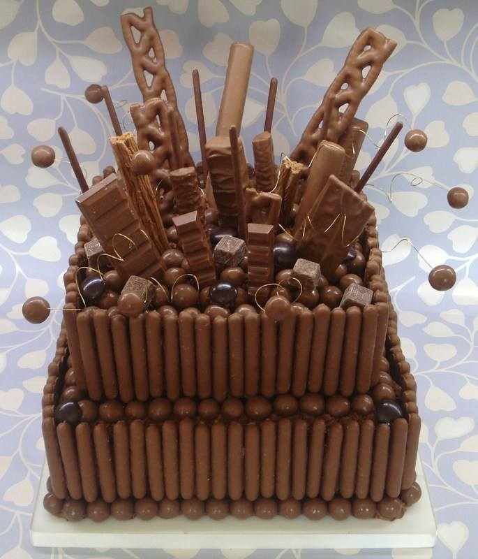 2 tier chocolate overload