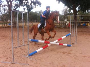Horse Jumping at Centura riding School