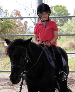 Lunge lessons at centura riding school