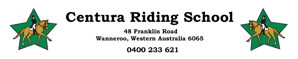 Centura Riding School , site logo.