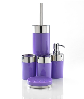 5-Piece Bathroom Set (Purple)