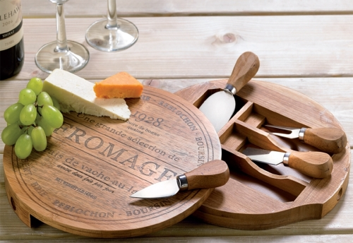 Bamboo Cheese Set