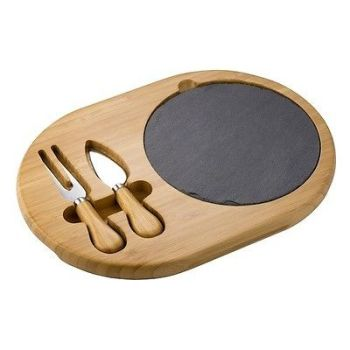 Viners 510330 Bamboo & Slate Cheese Board Set