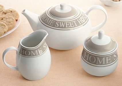 Mocha 3-Piece Tea Set