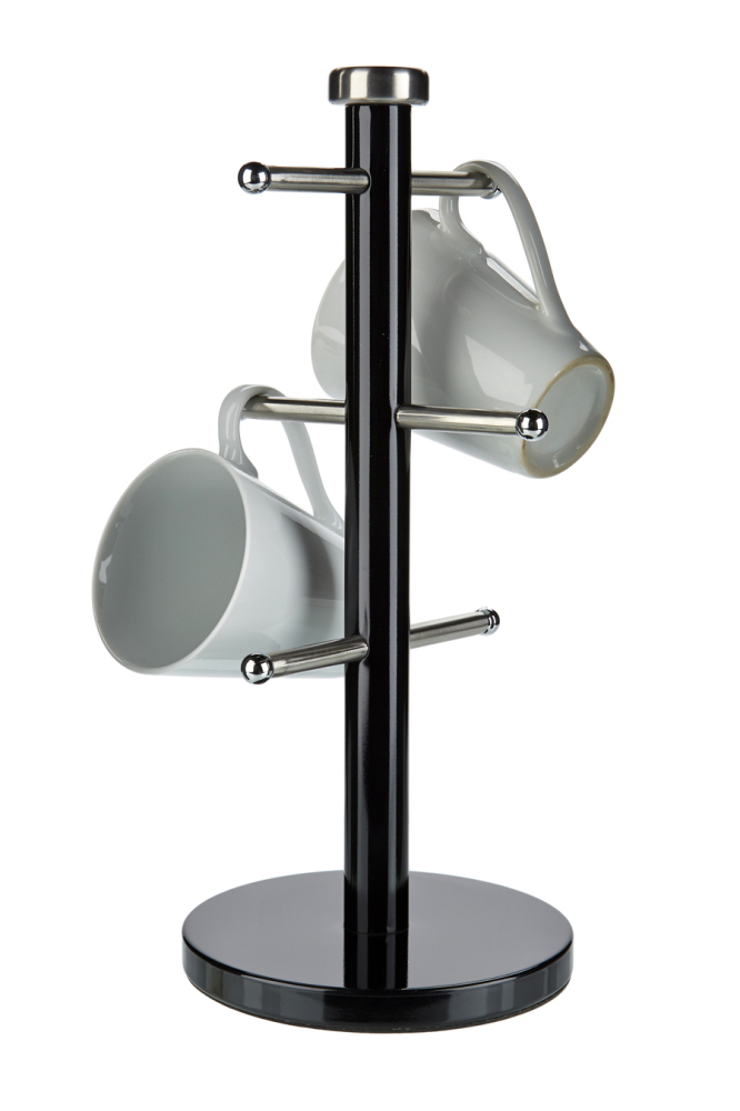 Towel Roll Holder & Mug Tree Black