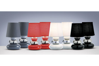 2 Pack Pebble Table Lamps Red