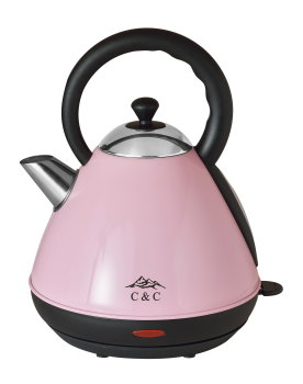C & C Stylish Pink Pyramid Kettle.