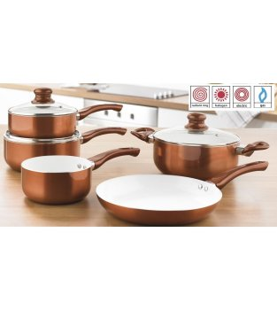 Copper 5-Piece Metallic Pan Set
