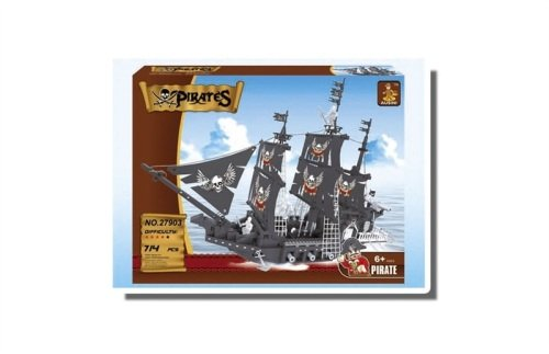 Skull Pirate Ship Building Brick/Block Set, Compatible Building Bricks 365