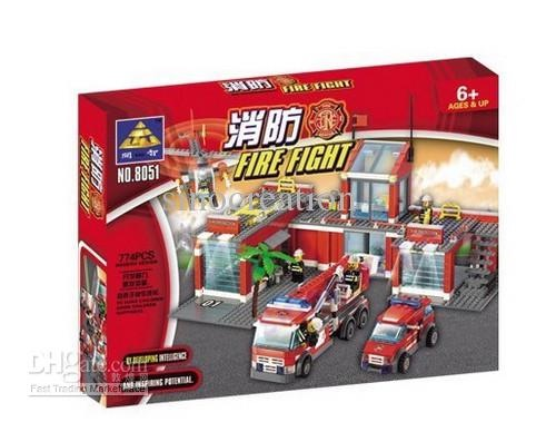 Fire Station Building Brick/Block Set, Compatible Building Bricks 774 Pcs