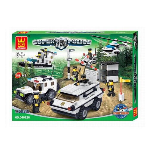 Police Force Building Brick/Block Set, Compatible Building Bricks 399 Pcs