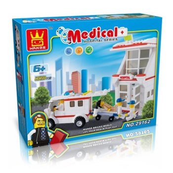 Hospital Building Brick/Block Set, Compatible Building Bricks 228 Pcs