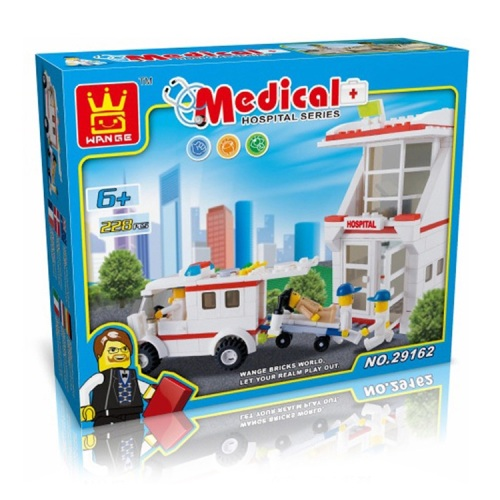 Hospital Building Brick/Block Set, Compatible Building Bricks 399 Pcs
