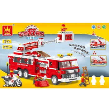 Fire Engine Building Brick/Block Set, Compatible Building Bricks 567 Pcs