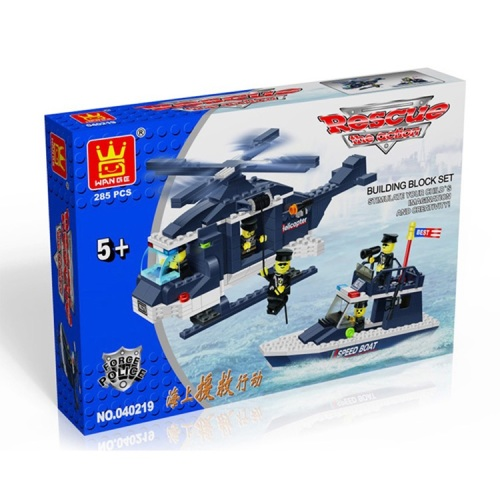 Police Rescue Building Brick/Block Set, Compatible Building Bricks 285 Pcs