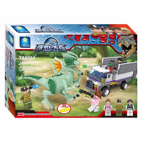 Jurassic Legend Dino Capture Building Brick/Block Set, Compatible Building