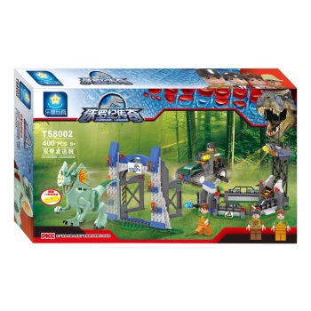Jurassic Legend Dino Escape Building Brick/Block Set, Compatible Building Bricks 400 Pcs