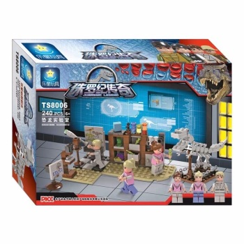Jurassic Legend Dino Research Lab Brick/Block Set, Compatible Building Bricks 240 Pcs