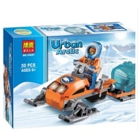Urban Arctic Snowmobile Building Brick/Block Set, Compatible Building Bricks 50 Pcs